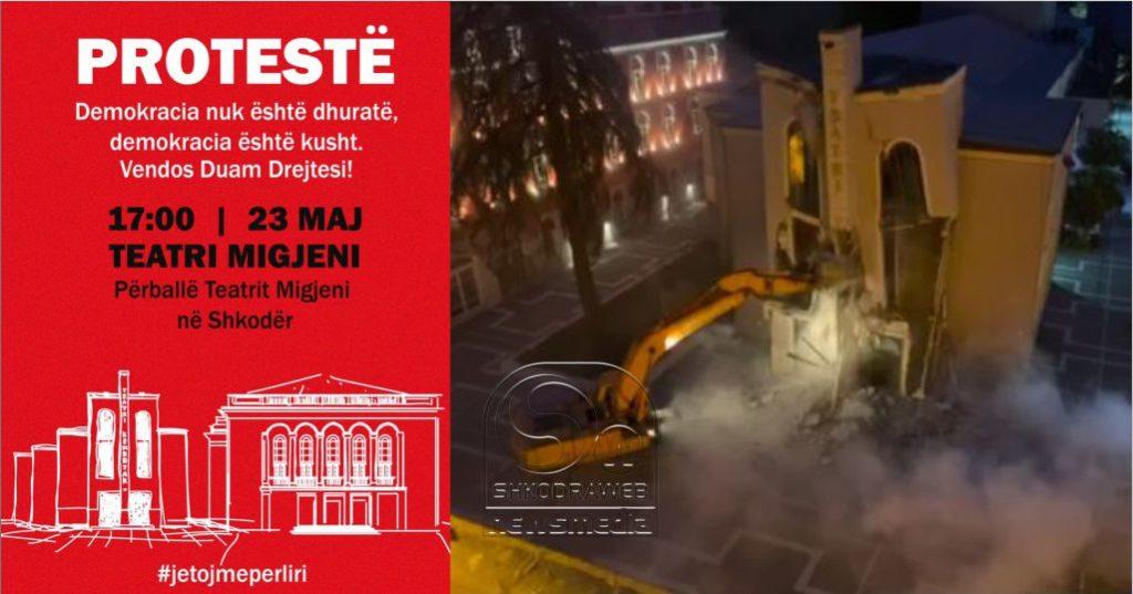FOTOLAJM – Ndalimqarkullim dhe kufizim lëvizjeje por Aleanca për Mbrojtjen e Teatrit do të jetë sot në Shkodër
