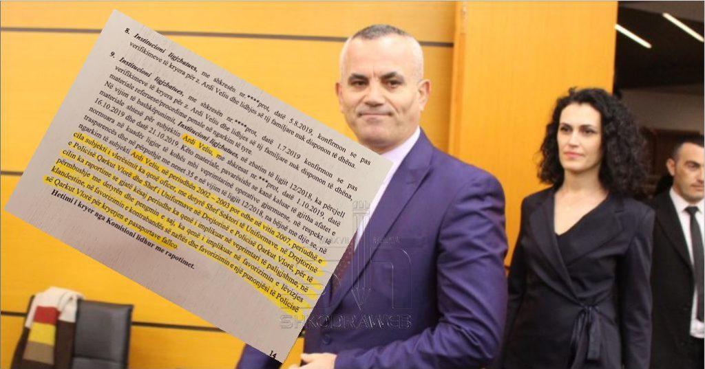 """DOKUMENTI – """"Ardi Veliu i implikuar në veprimtari të paligjshme"""", ish- ministri i Drejtësisë nxjerr dokumentin sekret"""