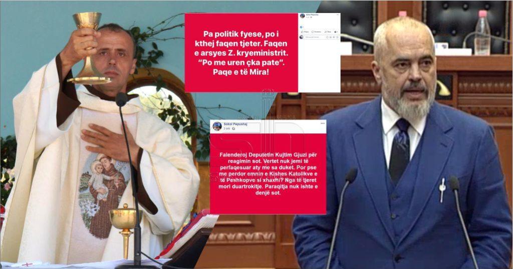 """FOTO – """"Po me urën çka pate…"""", pas deklaratave të Ramës nga Kuvendi, vjen reagimi i parë nga Kisha Katolike…"""
